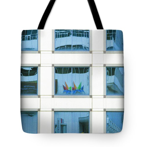 Tote Bag featuring the photograph Urban Squares by Marla Craven