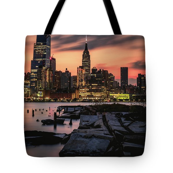 Urban Sunrise Tote Bag