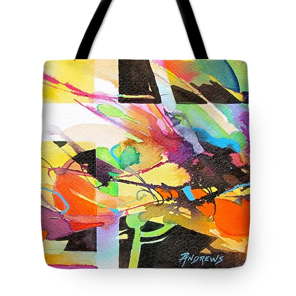 Tote Bag featuring the painting Urban Threads by Rae Andrews