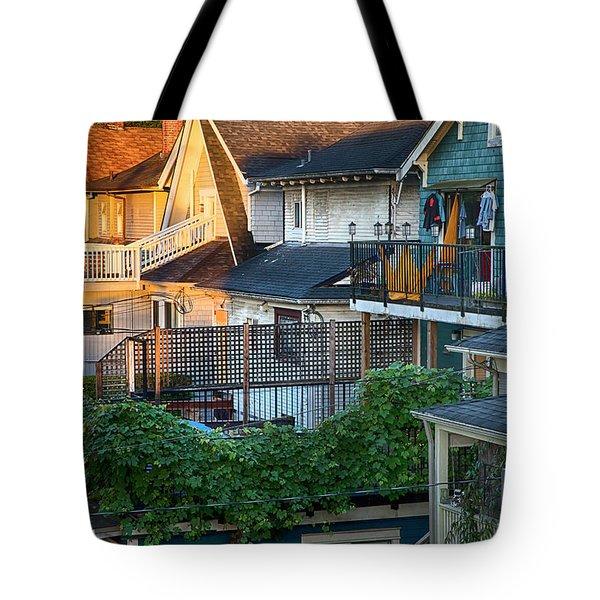 Urban Vancouver Tote Bag by Theresa Tahara