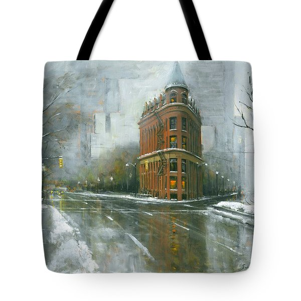 Urban Winter Tote Bag