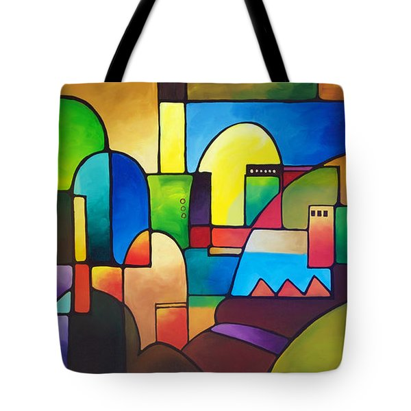 Urbanity 2 Tote Bag by Sally Trace