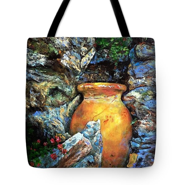 Urn Among The Rocks Tote Bag