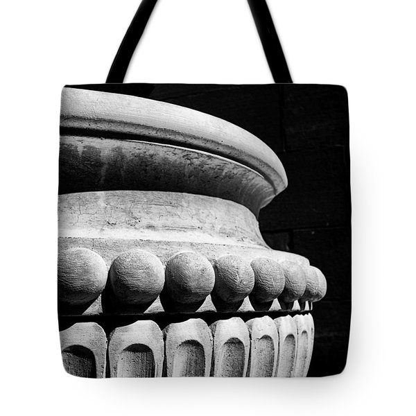 Tote Bag featuring the photograph Urn At The Cathedral by Dutch Bieber