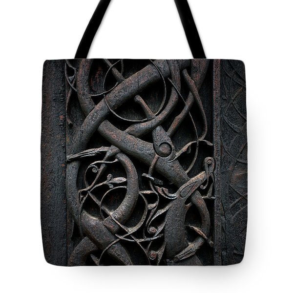 Urnes Stave Church Details  Tote Bag by Aivar Mikko