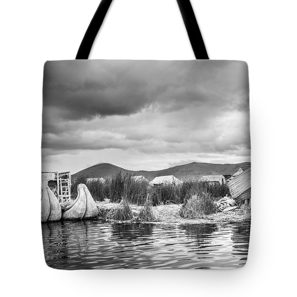 Tote Bag featuring the photograph Uros Floating Island by Gary Gillette