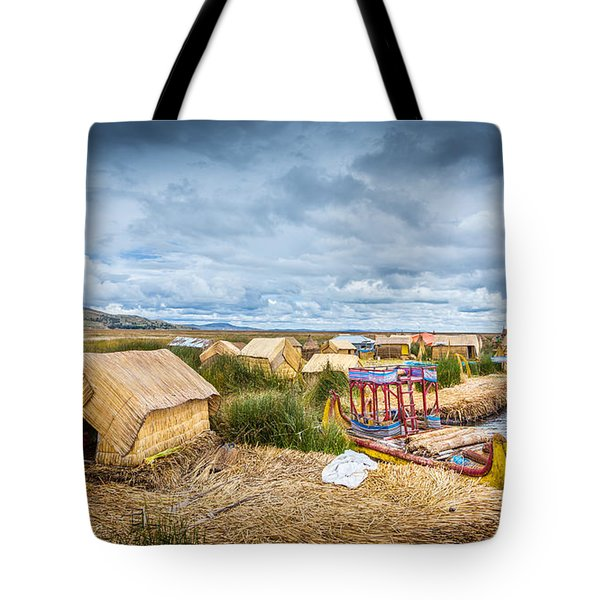 Tote Bag featuring the photograph Uros Life by Gary Gillette