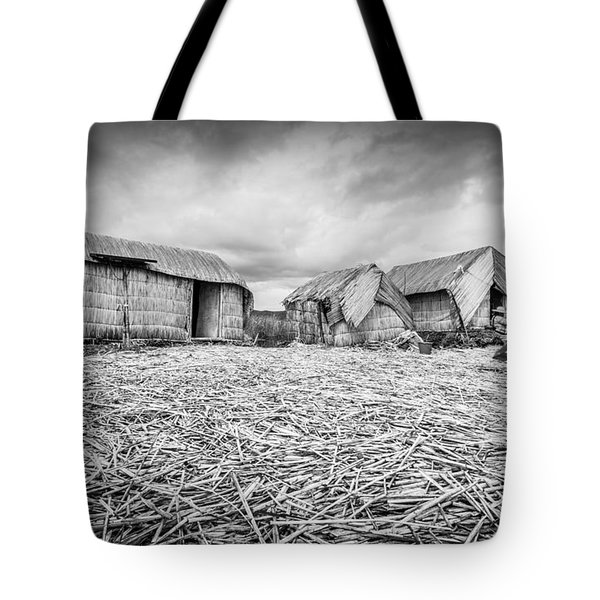 Tote Bag featuring the photograph Uros Native Huts by Gary Gillette
