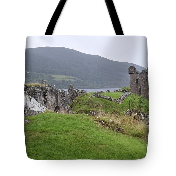 Urquhart Castle - Drumnadrochit Tote Bag by Amy Fearn