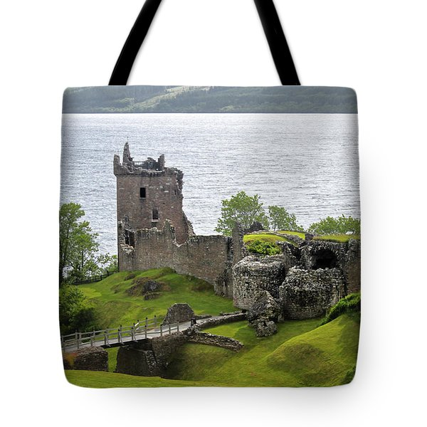 Urquhart Castle On Loch Ness Tote Bag