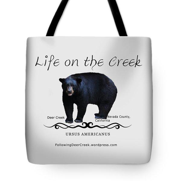 Ursus Americanus - Color Bear Black Text Tote Bag