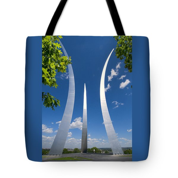 Tote Bag featuring the photograph U.s. Air Force Memorial by Jim Moore