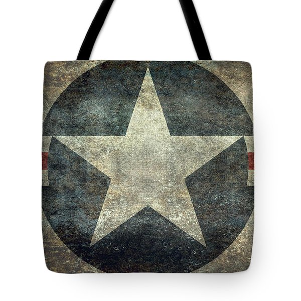 Us Air Force Roundel With Star Tote Bag