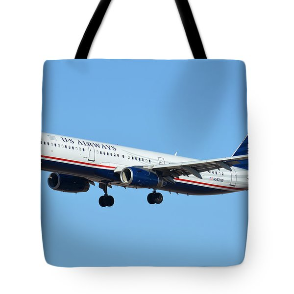 Us Airways Airbus A321-231 N567uw Tote Bag