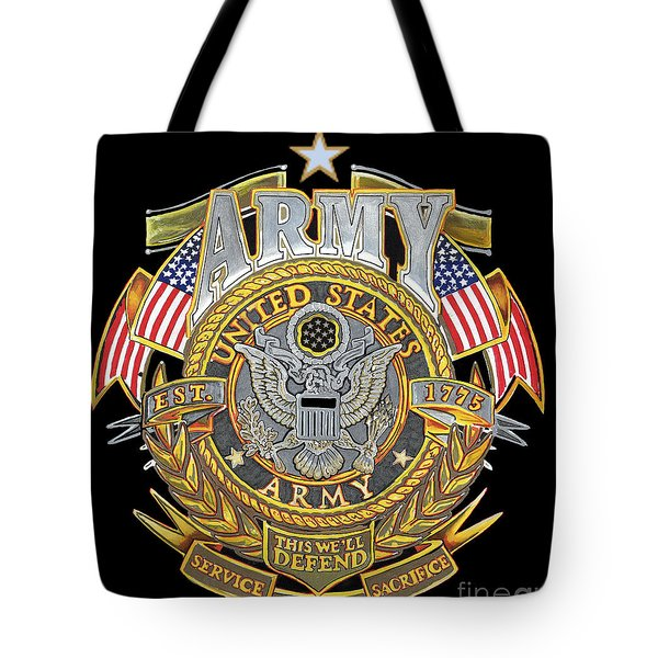 Us Army Tote Bag by Bill Richards