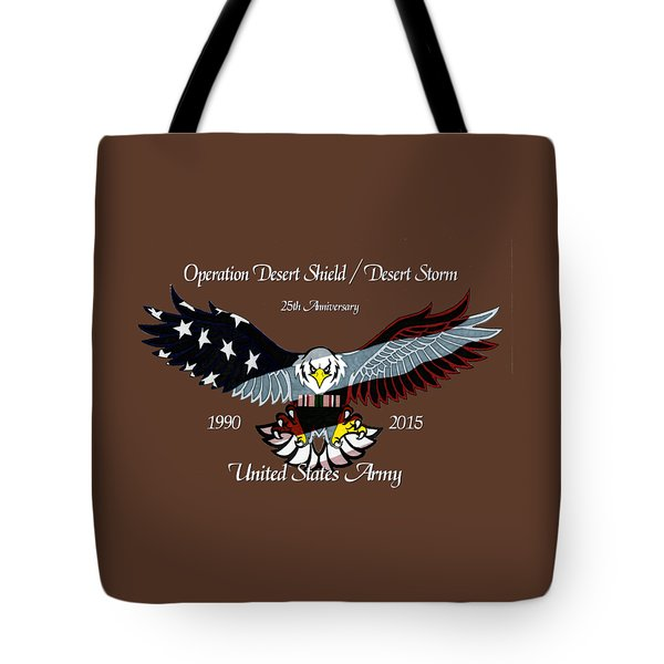 Us Army Desert Storm Tote Bag by Bill Richards