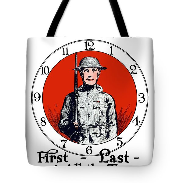 Us Army First Division - Ww1 Tote Bag