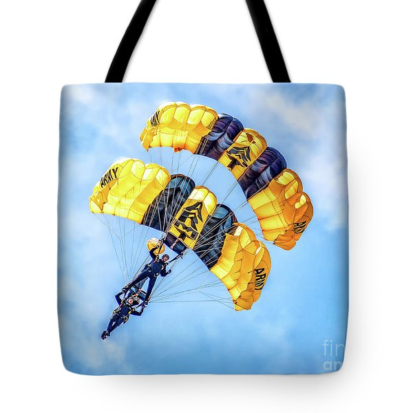 Tote Bag featuring the photograph U.s. Army Golden Knights by Nick Zelinsky