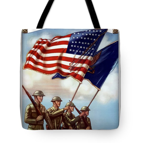 Us Army -- Guardian Of The Colors Tote Bag