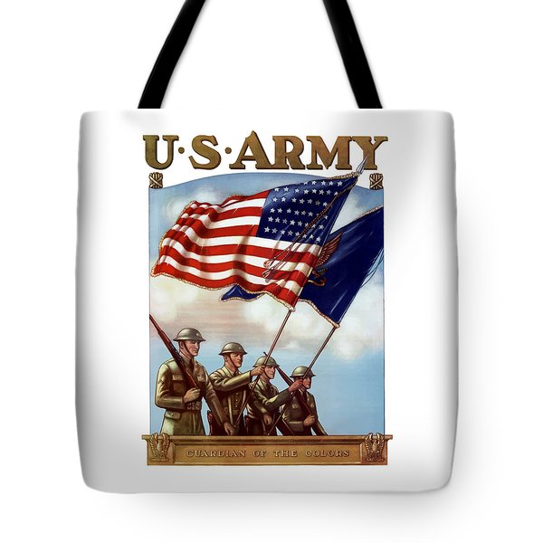Us Army -- Guardian Of The Colors Tote Bag by War Is Hell Store