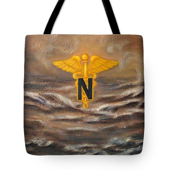 U.s. Army Nurse Corps Desert Storm Tote Bag by Marlyn Boyd