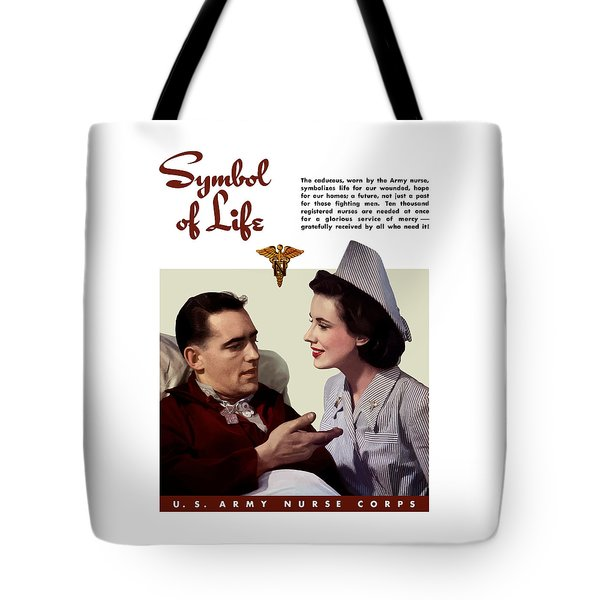 Us Army Nurse Corps Tote Bag by War Is Hell Store