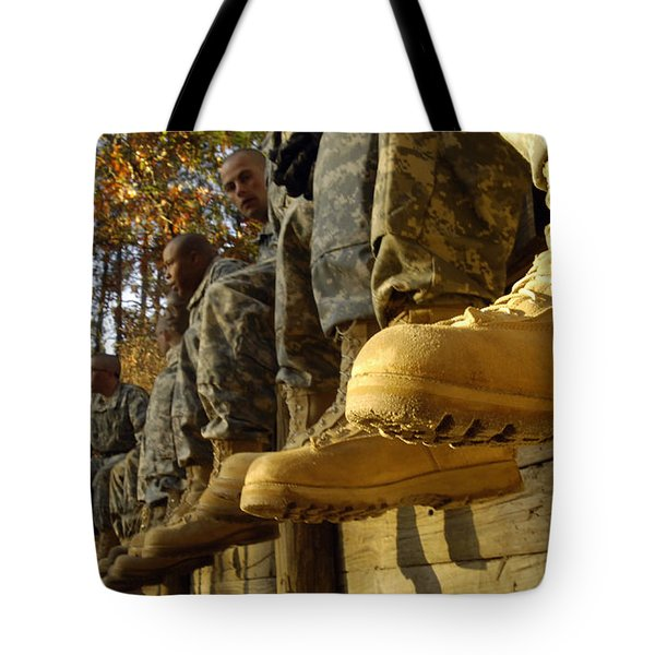 U.s. Army Soldiers Prepare For Basic Tote Bag by Stocktrek Images