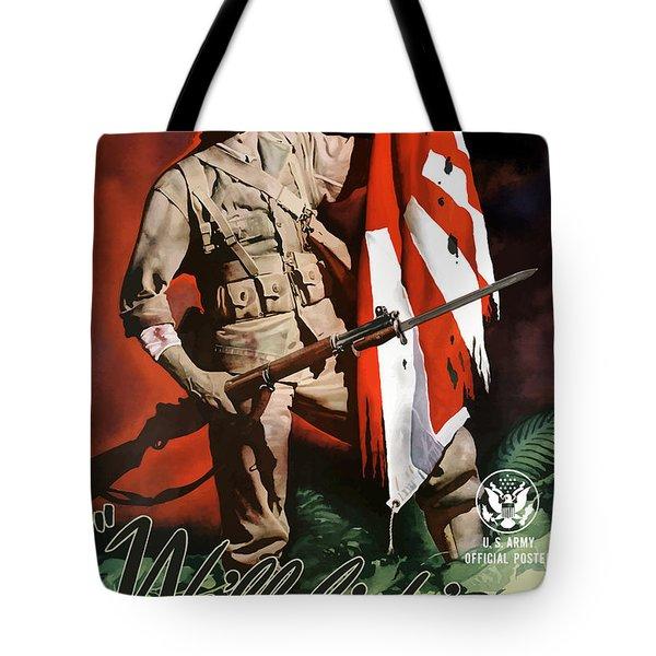 Us Army -- World War Two Propaganda Tote Bag