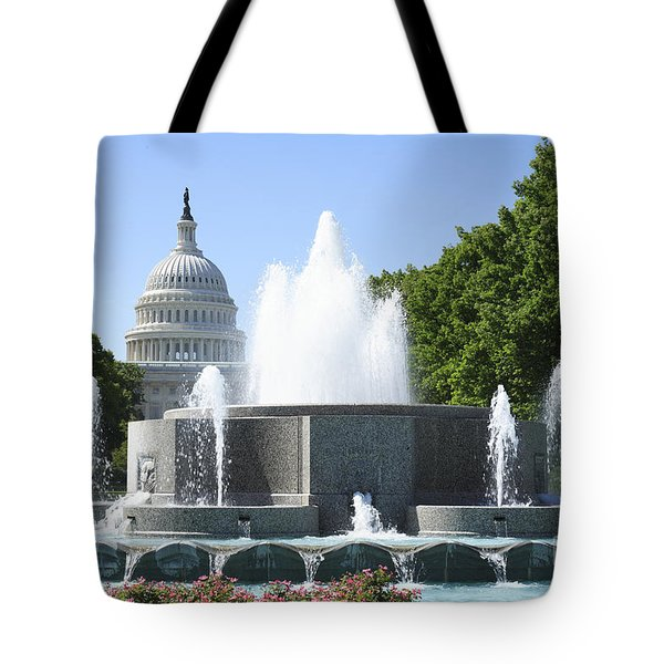 Us Capitol And Fountain In Washington Dc Tote Bag