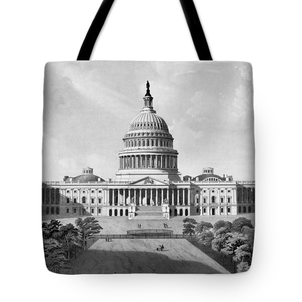 Us Capitol Building Tote Bag by War Is Hell Store