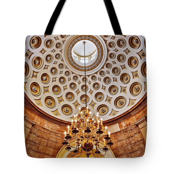 Tote Bag featuring the photograph Us Capitol Rotunda Washington Dc by Susan Candelario
