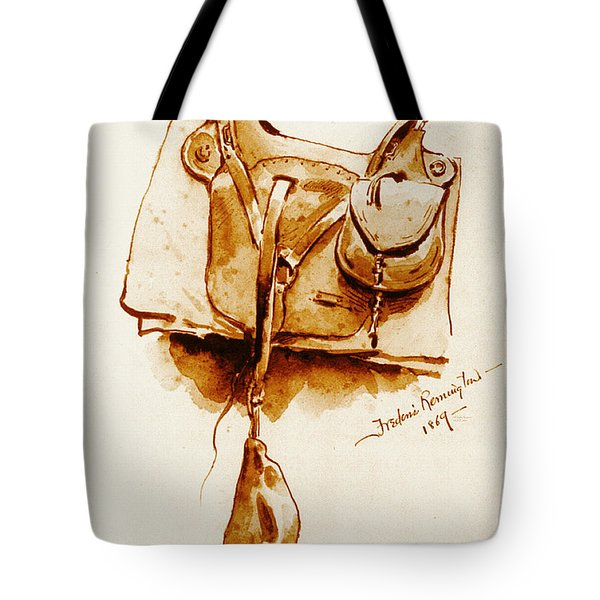 Us Cavalry Saddle 1869 Tote Bag by Padre Art
