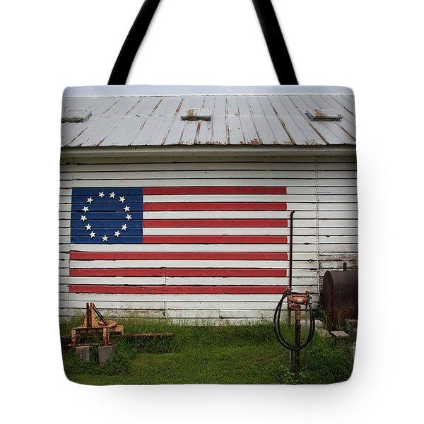 Us Flag Barn Tote Bag