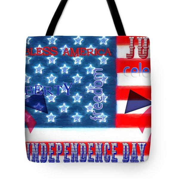 U. S. Flag - July 4th Graphic Tote Bag