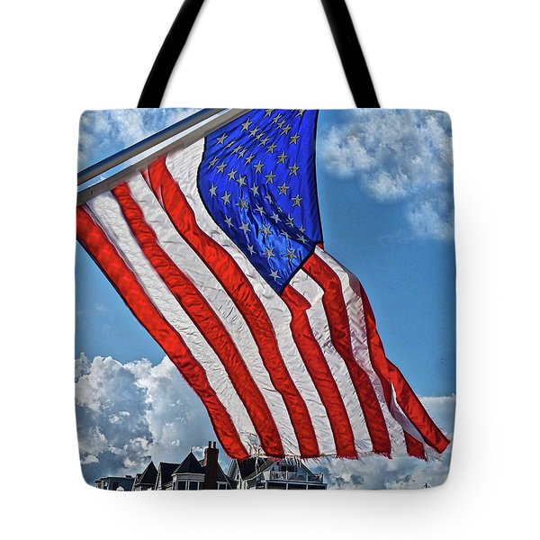 Us Flag,ocean Grove,nj Flag Tote Bag