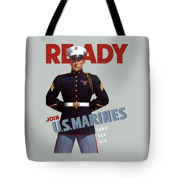Us Marines - Ready Tote Bag