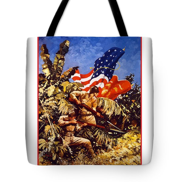 Us Marines - Ww2  Tote Bag