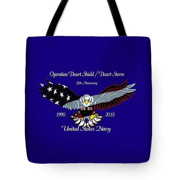 Us Navy Desert Storm Tote Bag by Bill Richards