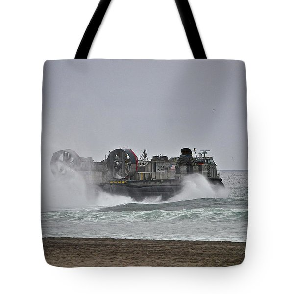 Us Navy Hovercraft Tote Bag