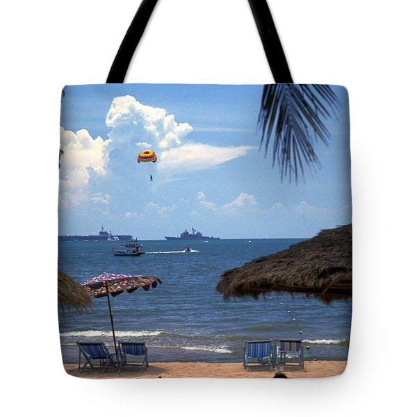 Us Navy Off Pattaya Tote Bag