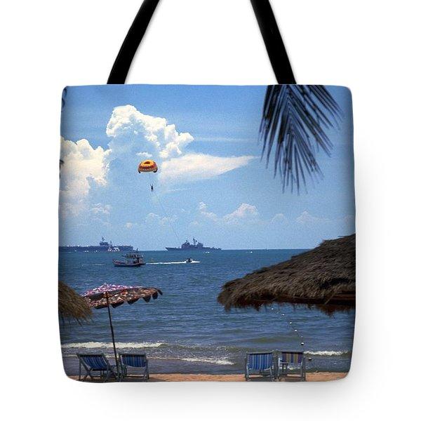 Us Navy Off Pattaya Tote Bag