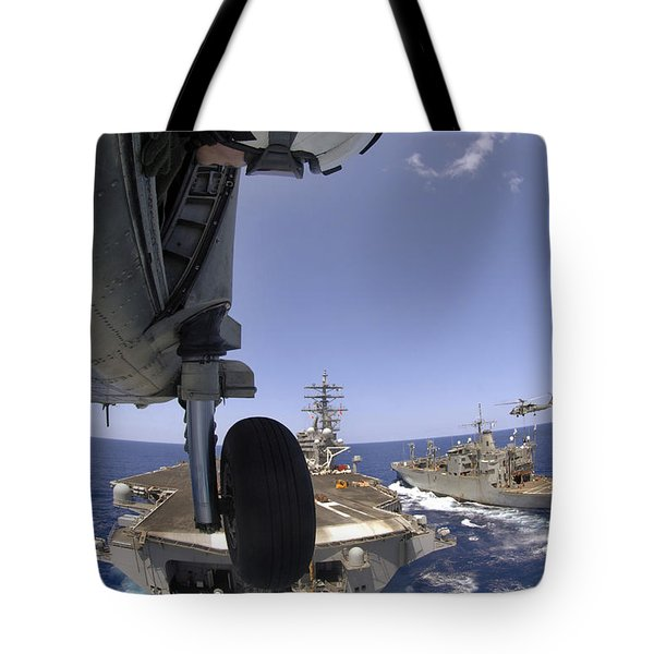 U.s. Navy Petty Officer Leans Tote Bag by Stocktrek Images