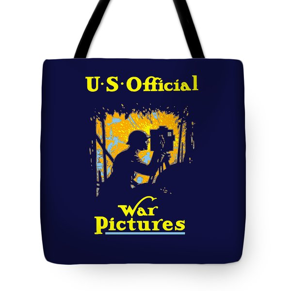 U.s. Official War Pictures Tote Bag by War Is Hell Store