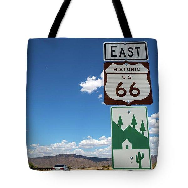 Us Route 66 Sign Arizona Tote Bag