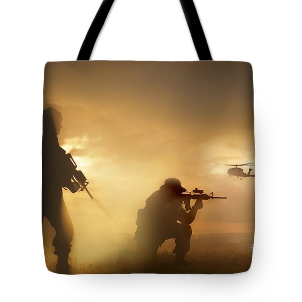 U.s. Special Forces Provide Security Tote Bag by Tom Weber