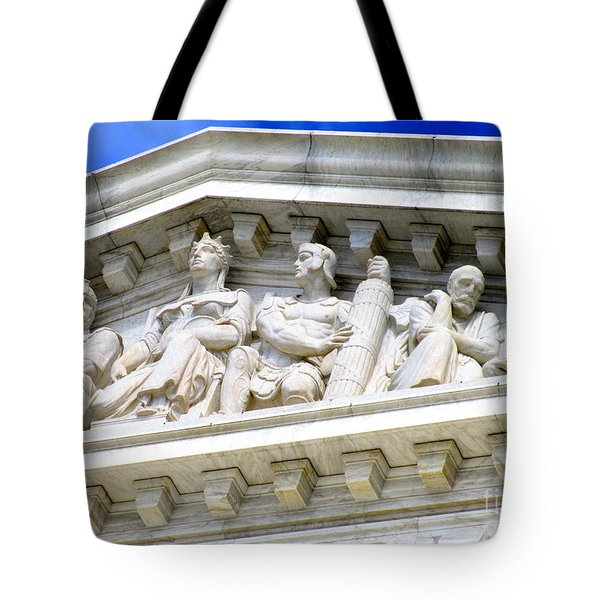 Us Supreme Court 4 Tote Bag by Randall Weidner