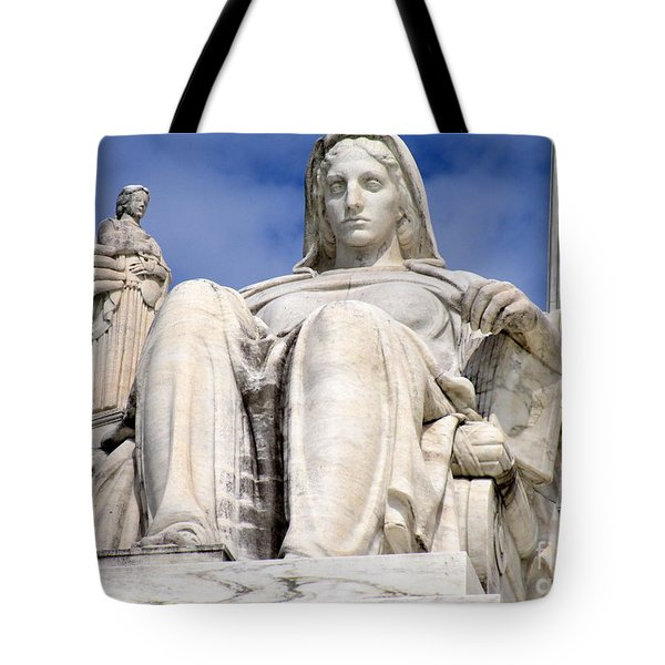 Us Supreme Court 7 Tote Bag by Randall Weidner