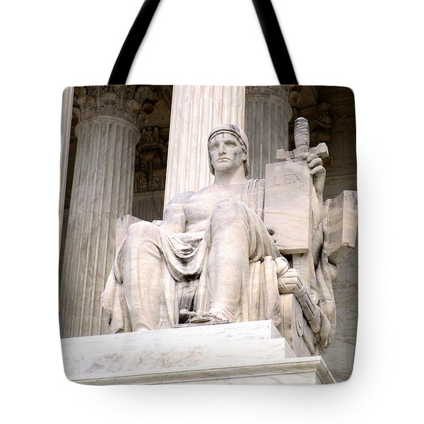 Us Supreme Court 8 Tote Bag by Randall Weidner