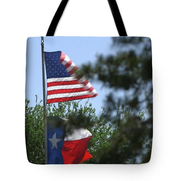 Usa Blesses Texas Tote Bag
