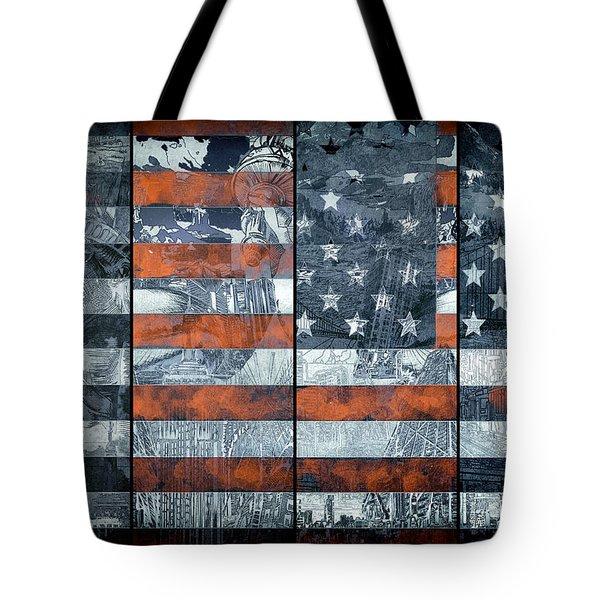 Usa Flag 12 Tote Bag